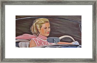 Grace Kelly - To Catch A Thief Framed Print by Kevin Hughes