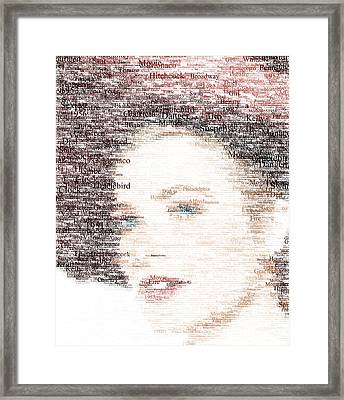 Grace Kelly Typo Framed Print by Taylan Apukovska