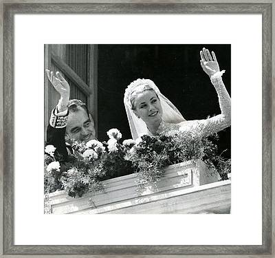 Grace Kelly Waves Framed Print by Retro Images Archive