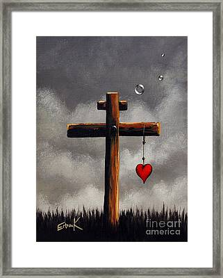 Grace Lives Here By Shawna Erback Framed Print