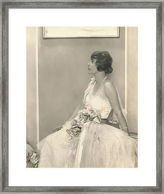 Grace Moore Wearing A Tulle Dress Framed Print