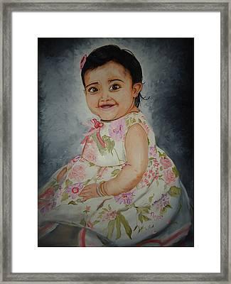 Grace Framed Print by Navjeet Gill