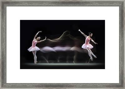 Graceful Balerina Framed Print