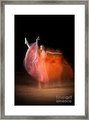 Graceful Ballerina Spirit Dance Framed Print by Cindy Singleton