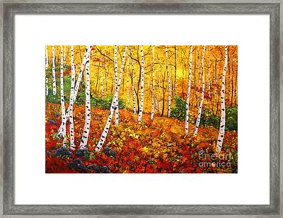 Graceful Birch Trees Framed Print by Connie Tom