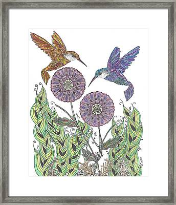 Graceful Humming Birds 2 Framed Print