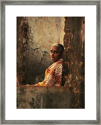 Graceful Indian Lady. Indian Collection Framed Print by Jenny Rainbow