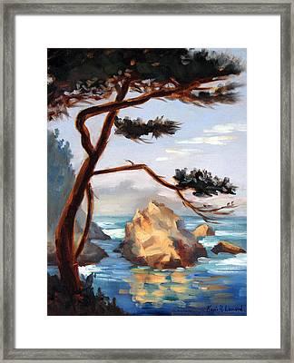 Graceful Pine Pt. Lobos Framed Print by Karin  Leonard