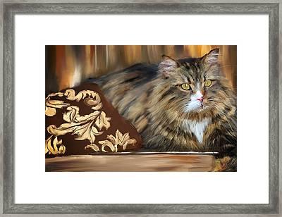 Graceful Sit Framed Print by Lourry Legarde