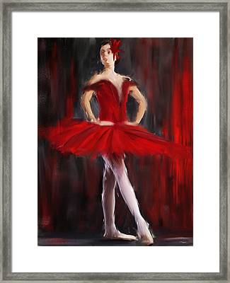 Graceful Stand Framed Print by Lourry Legarde