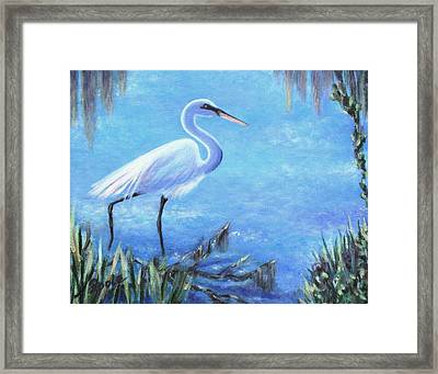 Graceful Stroll At Magnolia Gardens Framed Print