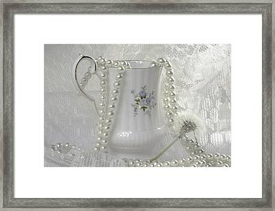 Graceful White Framed Print