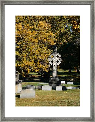 Graceland Cemetery Chicago - Tomb Of John W Root Framed Print by Christine Till