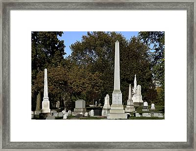 Graceland Chicago - The Cemetery Of Architects Framed Print by Christine Till
