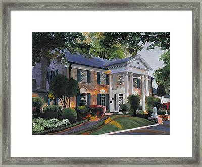 Graceland Home Of Elvis Framed Print
