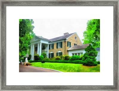 Graceland Mansion Framed Print by Dan Sproul