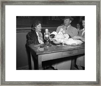 Gracie Allen Interviews The Ducks Framed Print by Retro Images Archive
