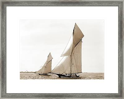 Gracie And Barbara, Goelet Cup Race, Gracie Yacht Framed Print