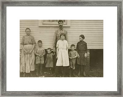 Gracie Clark, Spinner, With Her Family, Hunstville, Alabama Framed Print