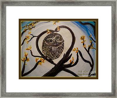 Graciela Finds Her Heart Song I  Framed Print by Kimberlee Baxter