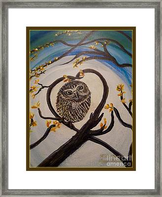 Graciela Finds Her Heartsong Closeup II Framed Print by Kimberlee Baxter