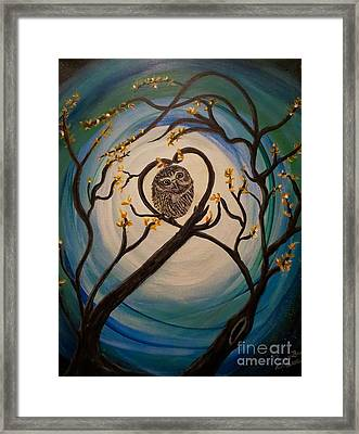 Graciela Finds Her Heartsong Framed Print by Kimberlee Baxter