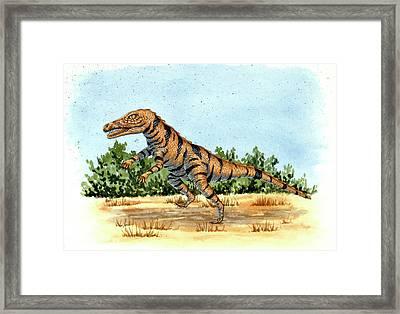 Gracilisuchus Prehistoric Crocodile Framed Print by Deagostini/uig