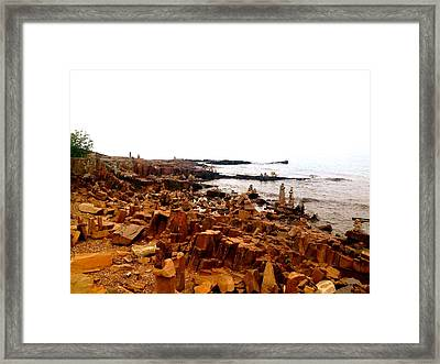 Gracious Grand Marais Framed Print by Danielle  Broussard