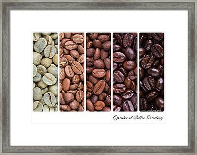 Grades Of Coffee Roasting Framed Print