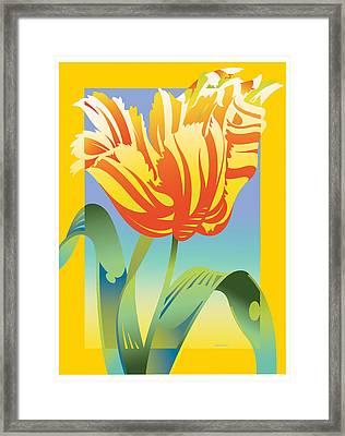 Gradient Parrot Framed Print