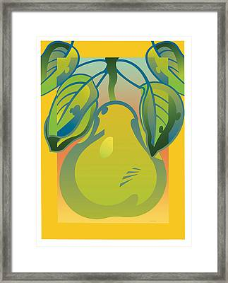 Gradient Pear Framed Print