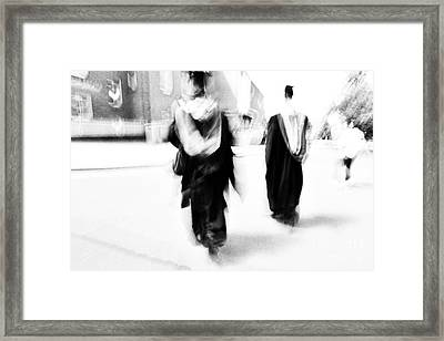 Graduation Abstract In Black And White Framed Print by Natalie Kinnear