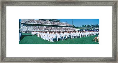 Graduation At Naval Academy, Annapolis Framed Print by Panoramic Images