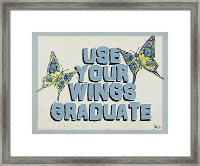 Graduation Butterfly II Framed Print by Shanni Welsh