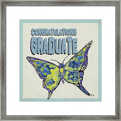 Graduation Butterfly Framed Print by Shanni Welsh