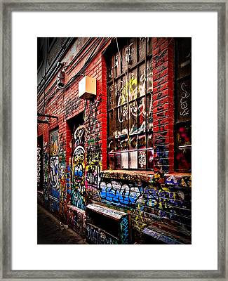 Framed Print featuring the photograph Graffiti Alley by James Howe