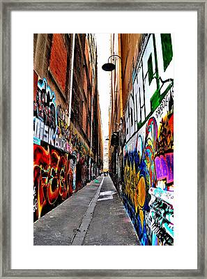 Graffiti Alley - Melbourne - Australia Framed Print