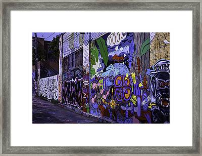 Graffiti Alley San Francisco Framed Print