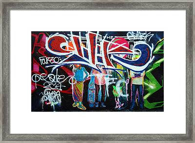 Graffiti Art Framed Print by David Pantuso