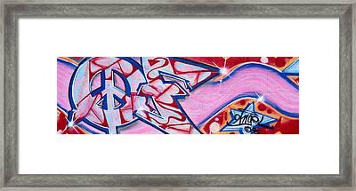 Graffiti Art, Los Angeles, California Framed Print
