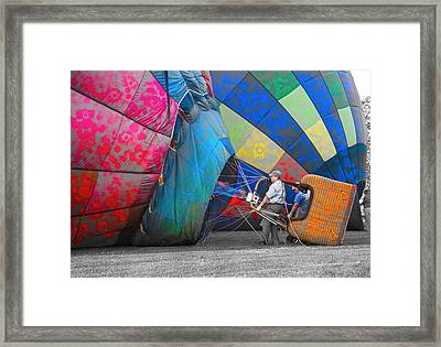 Graffiti Balloons Framed Print by Betsy Knapp