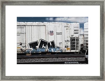 Graffiti - Blue Ich Framed Print