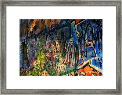 Graffiti Blues Framed Print