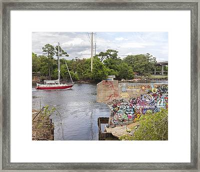 Graffiti Bridge Image Art Framed Print