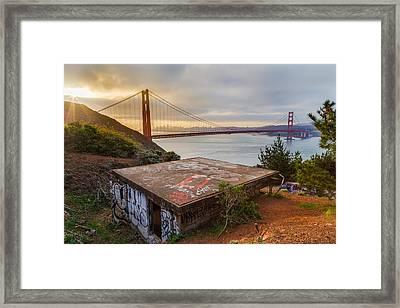 Graffiti By The Golden Gate Bridge Framed Print