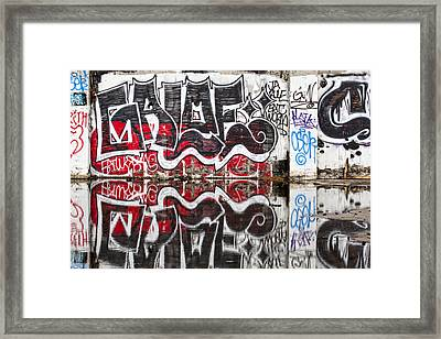 Graffiti Framed Print by Carol Leigh