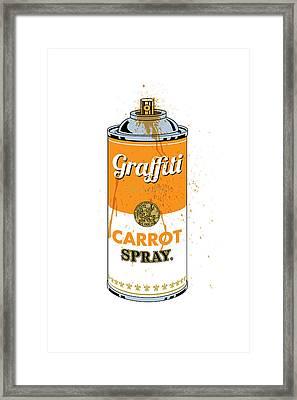 Graffiti Carrot Spray Can Framed Print