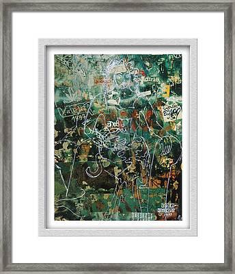 Graffiti Cat Framed Print by Eve Riser Roberts