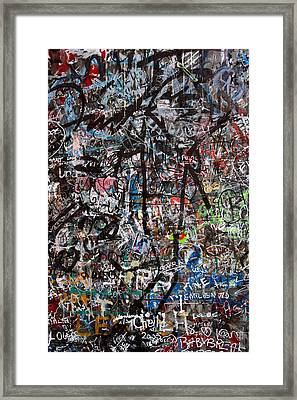 Graffiti Chaos Framed Print by Ron Sumners