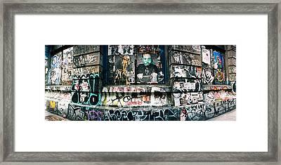 Graffiti Covered Germania Bank Building Framed Print
